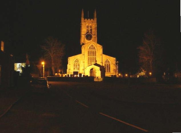 Morton Church, at night