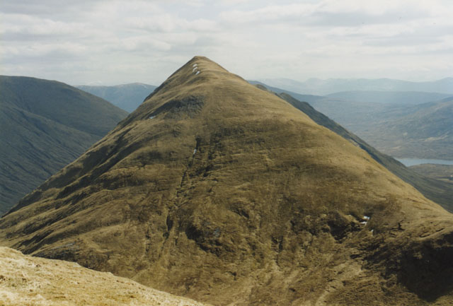 View of Am Bathach from Ciste Dhubh