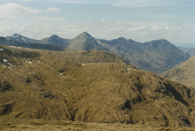 View west from Ciste Dhubh