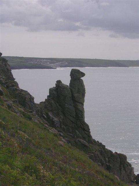 Rock formation on Trewavas Head