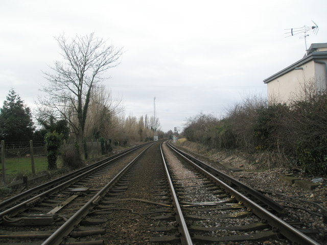 Railway looking westwards towards Southbourne Station