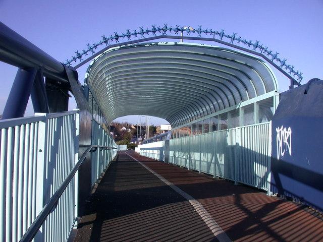Inside the cycle bridge