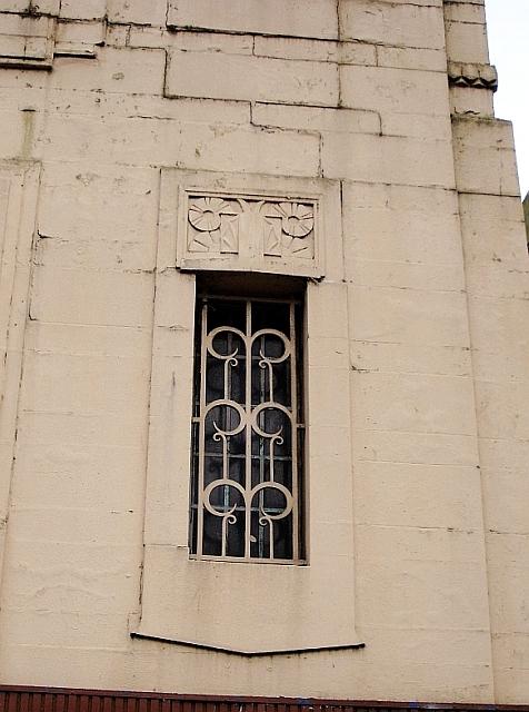 Art-deco window, Lonsdale Cinema