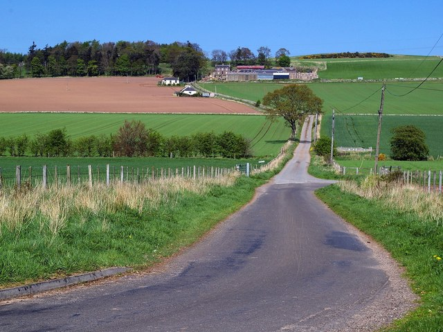 View of Baggerton Farm, near Forfar