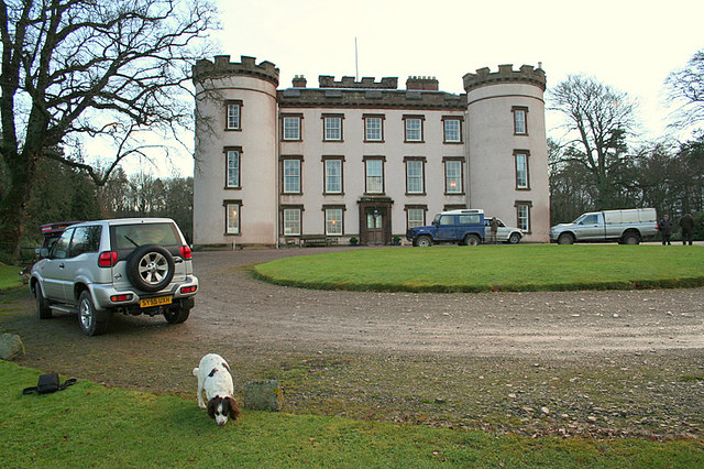 Hatton Castle on the morning of a shoot