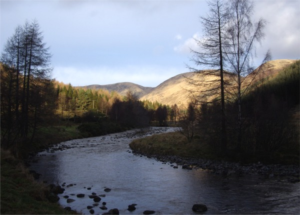 River South Esk near Acharn