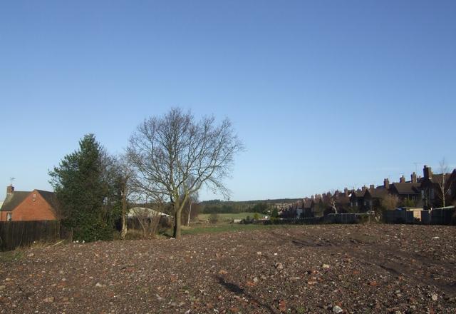 Line of former colliery railway