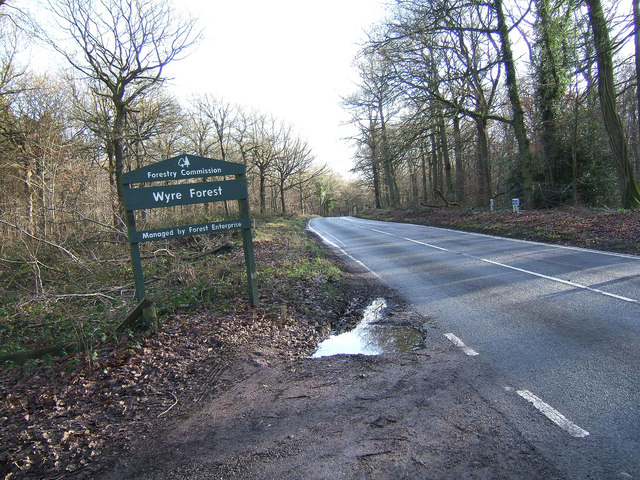 Wyre Forest sign on B4194 road to Bewdley