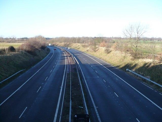 M2 motorway taken from the Brogdale Road bridge