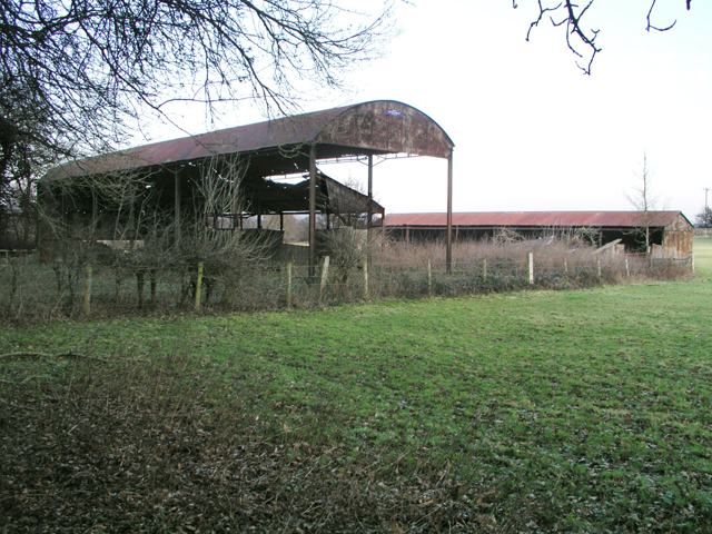 Decaying barn and outbuildings