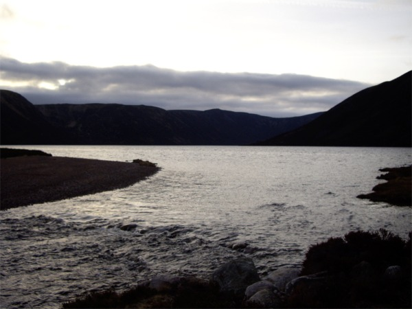 Outflow of River Muick from Loch Muick
