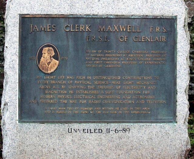 Memorial to James Clerk Maxwell