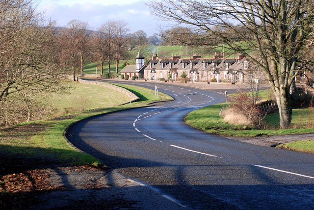 Road winding down to the Cottages at Parton