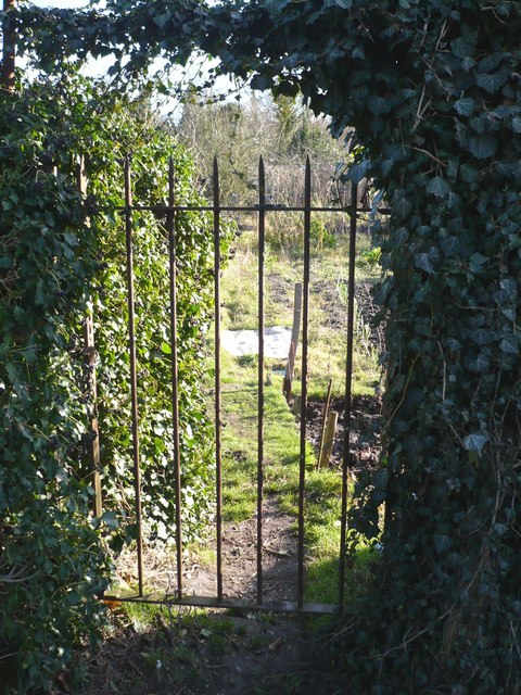 One of the gates to Stonebridge Pond Allotments