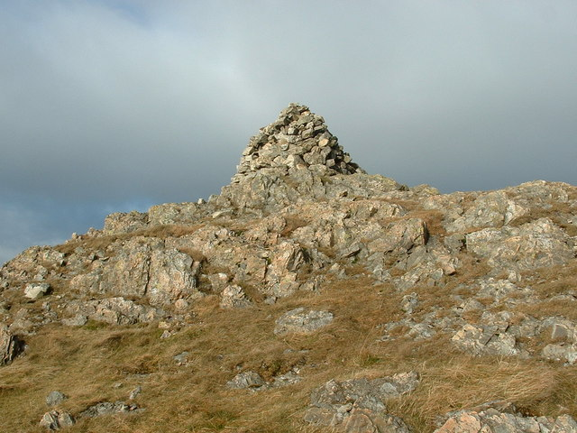 Summit cairn on Glasgwm