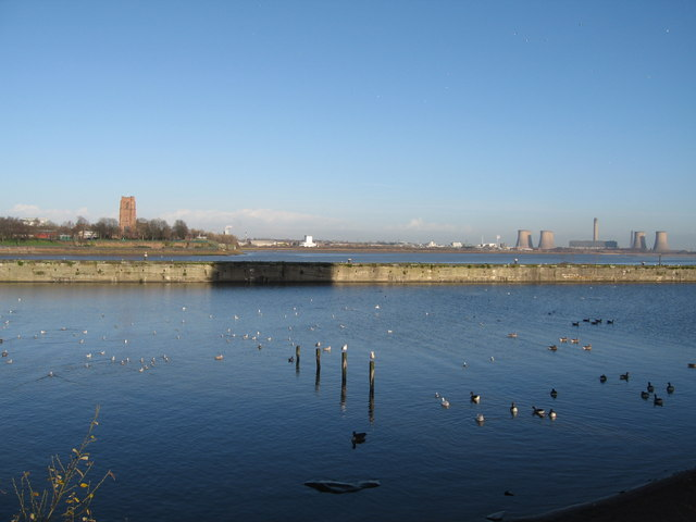 Across the Mersey at Runcorn towards Widnes