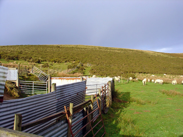 Fold near Eithbed-fach Farm