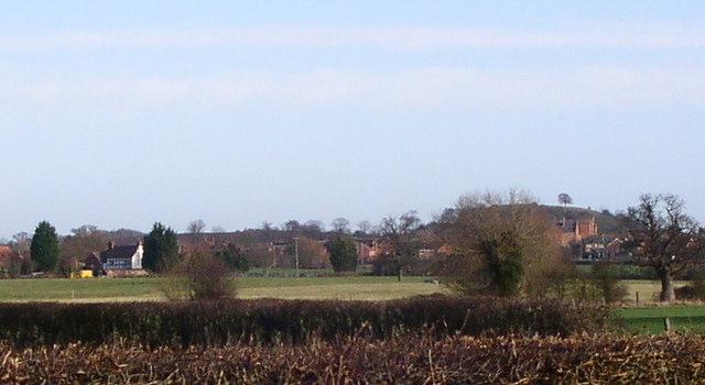 Middle Broomhall farm and Norton Barracks