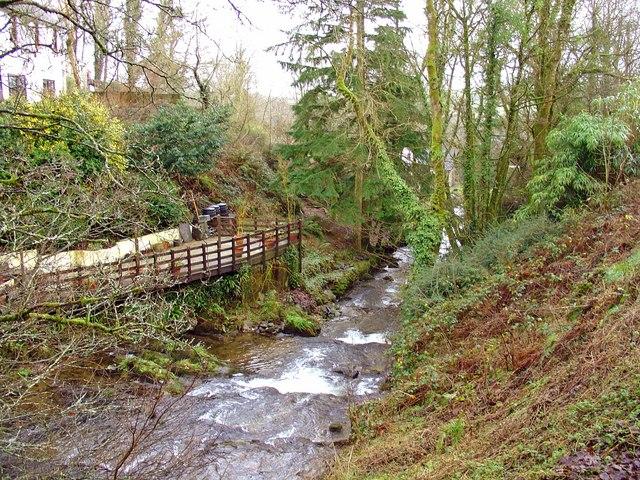Afon Gofal southeast from Glandwr Bridge