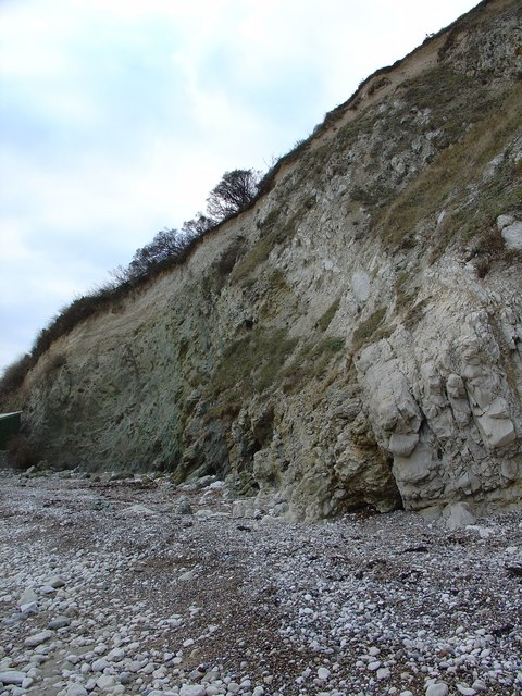 Contact of Upper Greensand and Chalk, Lulworth