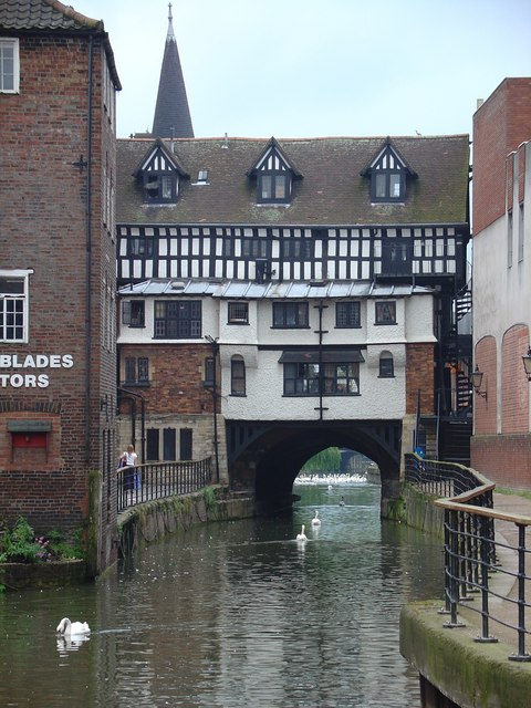 Old bridge over River Witham