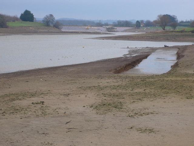 Bottom of Sutton Bingham reservoir