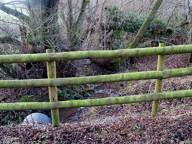 Stream passes under the Herefordshire Trail