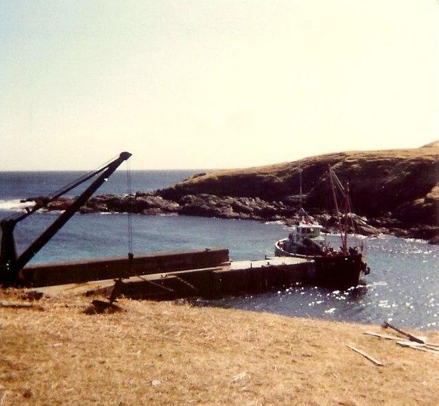 Foula pier 1981