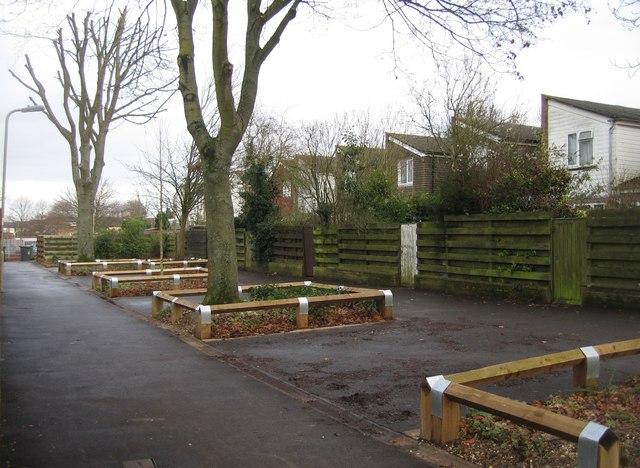Footpath & housing