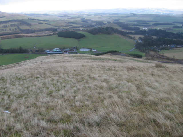 Toward Roberton Mains from White Hill