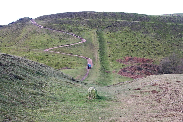Boundary Ditch and Path up Millennium Hill