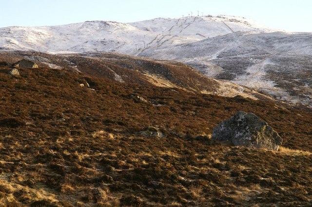 Meall Odhar from the Glen Shee ski area