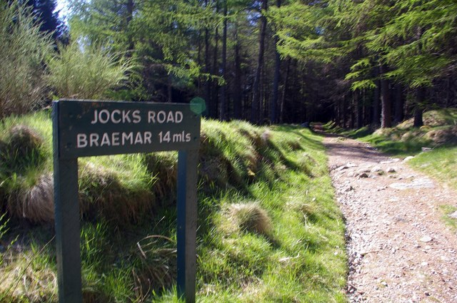 Sign depicting the Distance to Braemar at Glen Doll.
