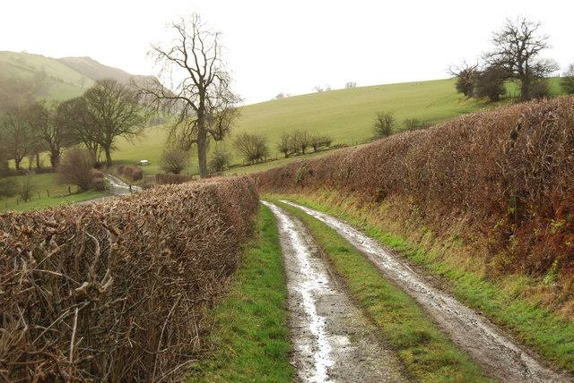 Rural road near Ty-mawr