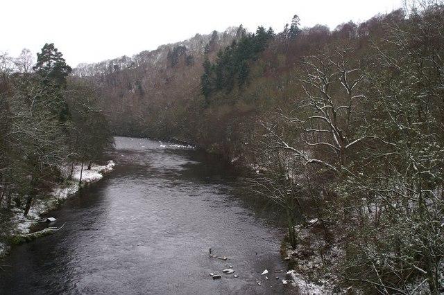 River Ericht in winter