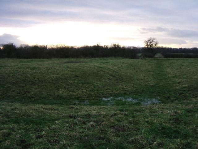 Moat, near Saighton Hall Farm