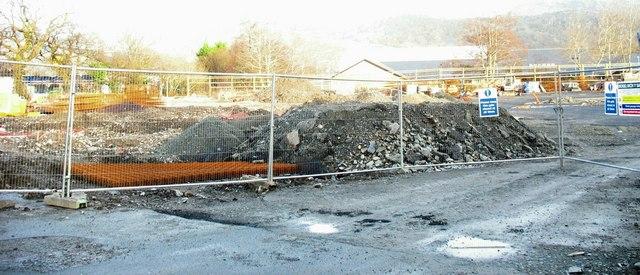 The construction site of the new Aldi supermarket in Penamser Road