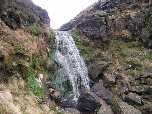 Waterfall in East Gill Dyke