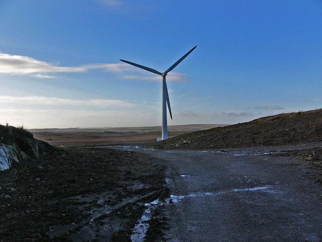 Wind turbine on Artfield Fell