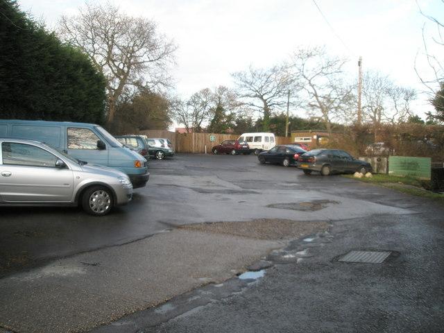 Car park  next to caravan sales outlet