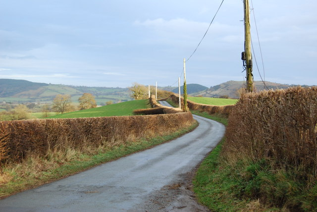 The  road to Llansillin