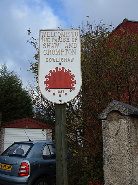 Shaw and Crompton Parish Boundary Plaque (1)