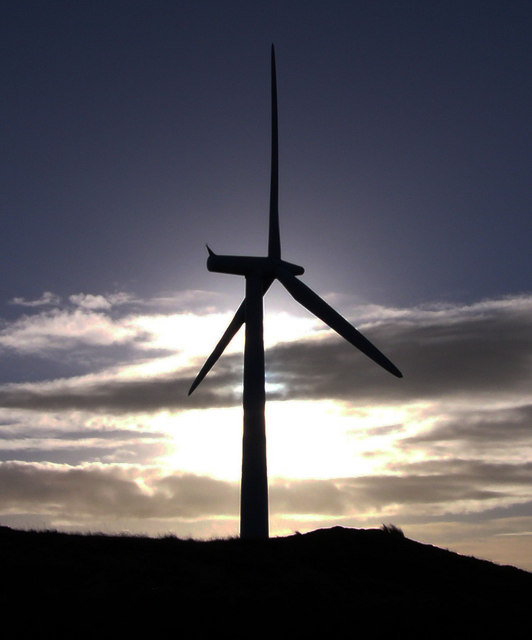 Wind turbine on Artfield Fell