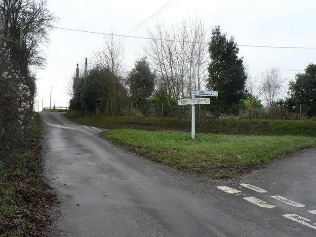 Finglesham: junction at West Street