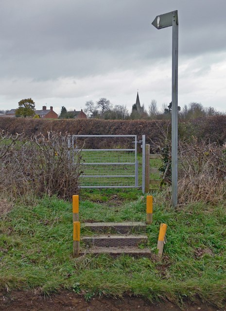 Public footpath to Peatling Magna