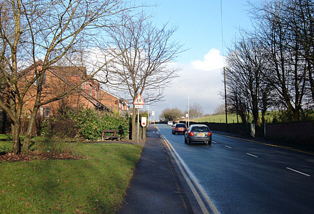 Shaw and Crompton Parish Boundary at Shaw Edge