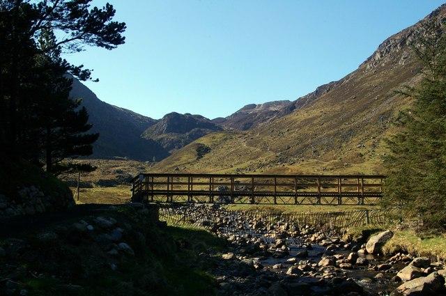 Footbridge over the White Water Glen Doll