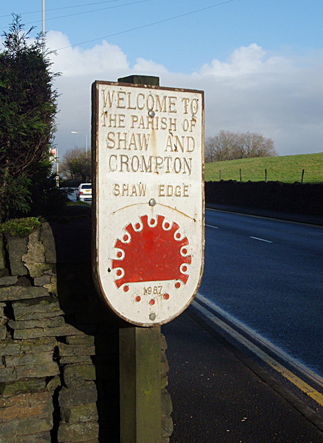 Shaw and Crompton Parish Boundary Plaque (2)