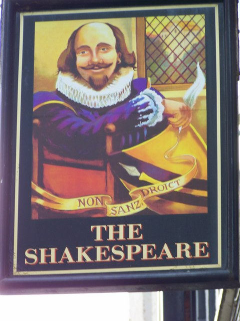 Sign for the Shakespeare Inn, Scarborough
