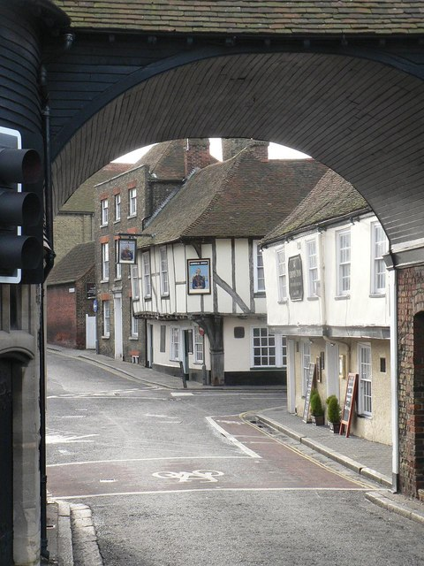 Sandwich: High Street through the Barbican Gate